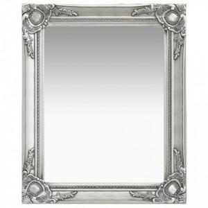 Oglinda de perete in stil baroc, argintiu, 50 x 60 cm - V320318V