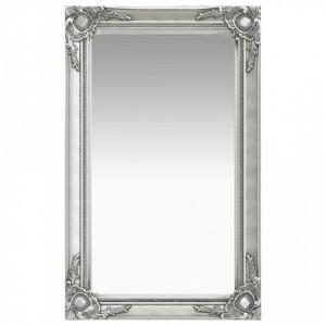 Oglinda de perete in stil baroc, argintiu, 50 x 80 cm - V320322V