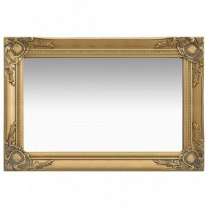 Oglinda de perete in stil baroc, auriu, 60 x 40 cm - V320329V