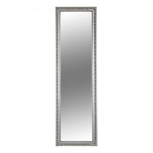 Oglindă, ramă din lemn în culoarea argintie, MALKIA TYP 5