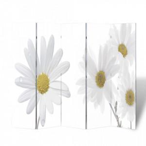 Paravan de camera pliabil, 200 x 170 cm, flori - V240479V