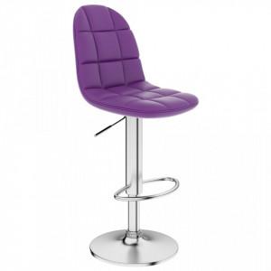 Scaun de bar, violet, piele ecologica - V249780V