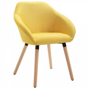 Scaun de sufragerie, galben, material textil - V283456V