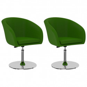 Scaune de bucatarie, 2 buc., verde, piele ecologica - V323185V