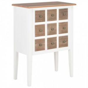 Servanta, alb, 54 x 30 x 80 cm, lemn masiv - V280075V