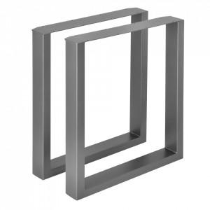 Set 2 bucati picioare masa/mobilier Model 4, 60 x 72 cm, metal, gri metal - P57353521