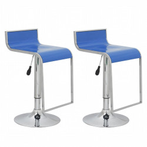 Set 2 scaune bar din ABS, Albastru - V60409V