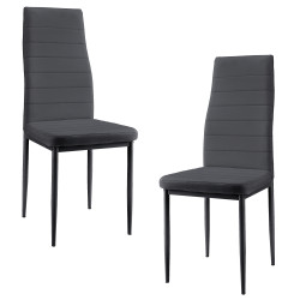 Set Casandra 2 scaune bucatarie, , 96 x 43 cm, piele sintetica, gri - P53102931