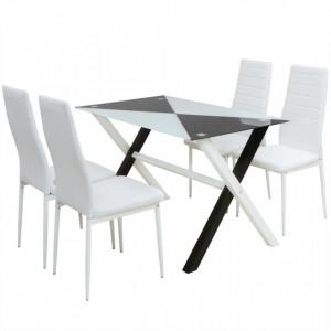 Set masa si scaune din piele artificiala, cinci piese - V242941V