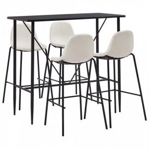 Set mobilier de bar, 5 piese, crem, material textil - V279868V