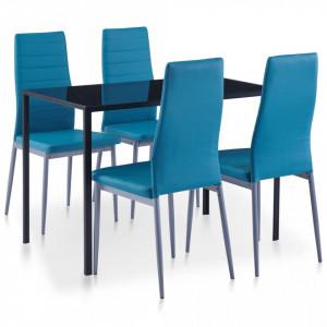Set mobilier de bucatarie, 5 piese, albastru - V281703V