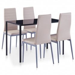 Set mobilier de bucatarie, 5 piese, cappuccino - V281701V