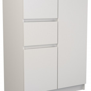TECOA102 - Comoda 70 x 40 x 97 cm, Alb-Mat