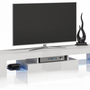 TECOTVA105 - Comoda TV 140 x 40 x 45 cm, Alb-Lucios