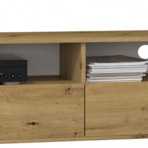 TECOTVAR107 - Comoda TV 138 x 40 x 38 cm, Stejar Artisan