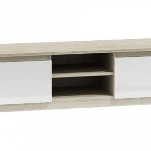 TECOTVS-A101 - Comoda TV 120 x 40 x 36 cm, Sonoma-Alb-Mat