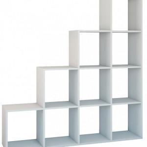 TERAA101 - Raft, biblioteca 153 x 30 x 153 cm, Alb-Mat