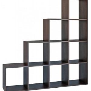 TERAM101 - Raft, biblioteca 153 x 30 x 153 cm, Wenge