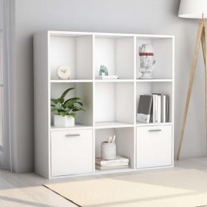 Biblioteca, alb, 98 x 30 x 98 cm, PAL - V801116V