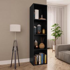 Biblioteca/Comoda TV, negru, 36 x 30 x 143 cm, PAL - V800145V