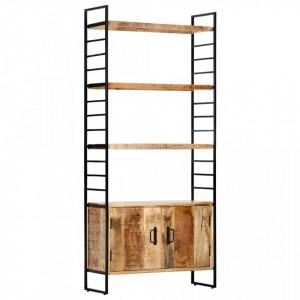 Biblioteca cu 4 rafturi 80x30x180 cm lemn masiv mango nefinisat - V284422V