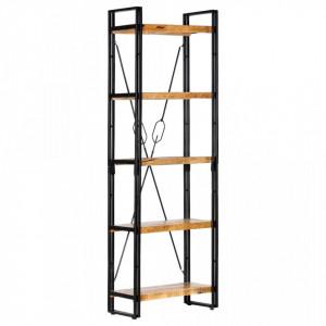 Biblioteca cu 5 rafturi, 60 x 30 x 180 cm, lemn masiv de mango - V286582V