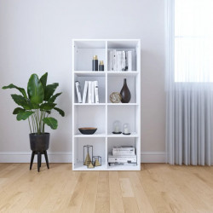 Biblioteca/Servanta, alb, 66 x 30 x 130 cm, PAL - V800153V