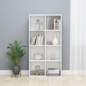 Biblioteca/Servanta, alb lucios, 66 x 30 x 130 cm, PAL - V800159V