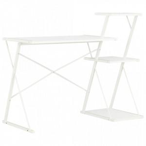 Birou cu raft, alb, 116 x 50 x 93 cm - V20287V