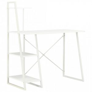 Birou cu rafturi, alb, 102 x 50 x 117 cm - V20282V