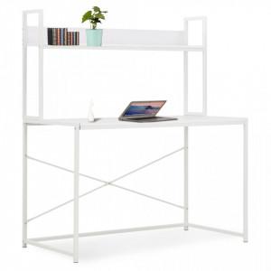 Birou de calculator, alb, 120 x 60 x 138 cm - V20254V