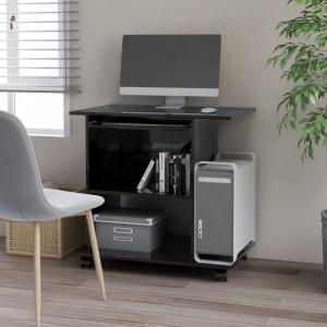Birou de calculator, negru extralucios, 80 x 50 x 75 cm, PAL - V802901V