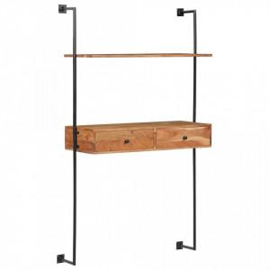 Birou de perete, 90 x 40 x 170 cm, lemn masiv de acacia - V247694V