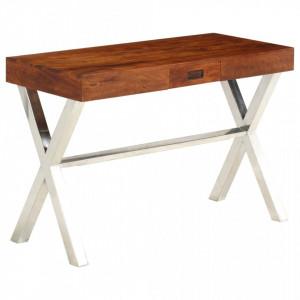 Birou, lemn masiv de acacia, finisaj sheesham, 110 x 50 x 76 cm - V245652V