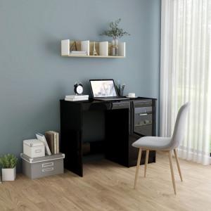 Birou, negru extralucios, 100 x 50 x 76 cm, PAL - V801803V
