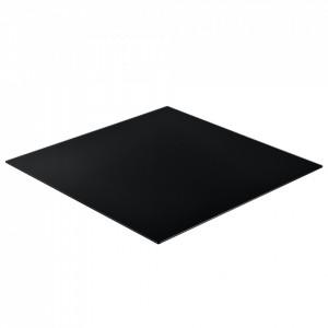 Blat sticla masa/protectie semineu AAGB 8709, DE, 80 x 80 cm, ESG sticla securizata, negru - P61988444