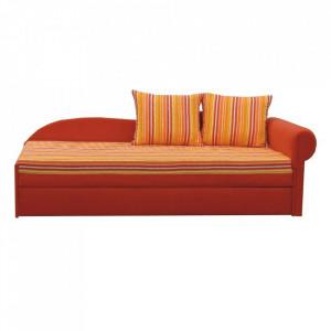 Colţar extensibil, portocalie/cu model dungi, dreapta, AGA D
