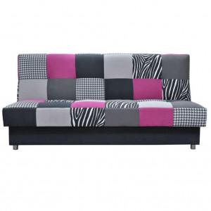 Colţar, textil roz/gri/neagră, ALABAMA