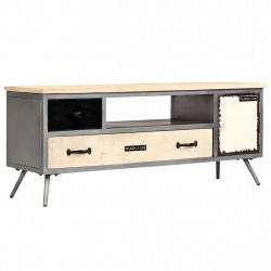Comoda TV, 120 x 30 x 45 cm, lemn masiv de mango si otel - V246282V