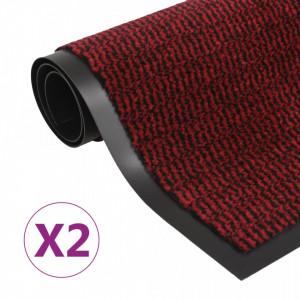 Covoare usa anti-praf, 2 buc., rosu, 90x150 cm, dreptunghiular - V3051615V