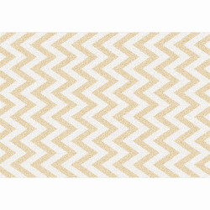 Covor, bej/model alb, 67x120, ADISA TYP 2