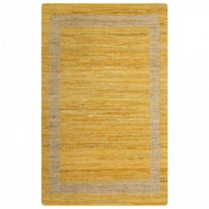 Covor manual, galben, 160 x 230 cm, iuta - V133733V