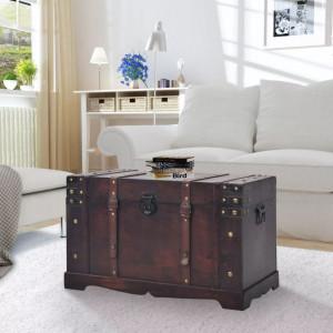 Cufar vintage din lemn, 66 x 38 x 40 cm - V245478V