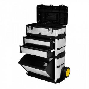 Cutie pentru unelte din 3 parţi cu roţi - V140301V