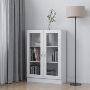 Dulap cu vitrina, alb, 82,5 x 30,5 x 115 cm, PAL - V802750V