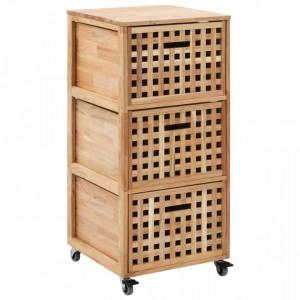 Dulap de baie, 41 x 41 x 91 cm, lemn masiv de nuc - V247601V