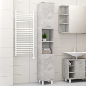 Dulap de baie, gri beton, 30 x 30 x 179 cm, PAL - V802628V