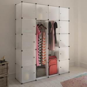Dulap modular cu 14 compartimente alb 37 x 146 x 180,5 cm - V240500V