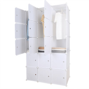 Dulap multifuncţional modular, alb, ZALVO