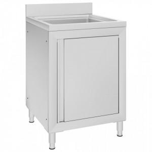 Dulap pentru chiuveta comercial, 60x60x96 cm, otel inoxidabil - V147227V